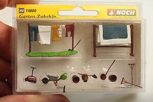 Noch-H0-14800-Garten-Zubehoer-034-Garden-Accessories-034-nw-OVP-Schmutz-Kratzer