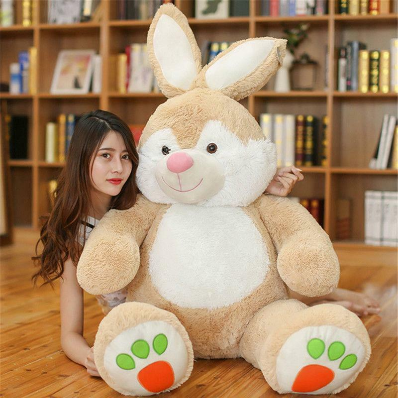 59'' Giant  Bunny Rabbit  Plush Toys Soft Large Stuffed Animals Doll kids gifts