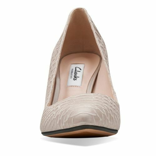 CLARKS Dalhart Sorbet Shingle Shoe Leather Women Classic Court Shoe Shingle UK 5.5 6 fefdb5