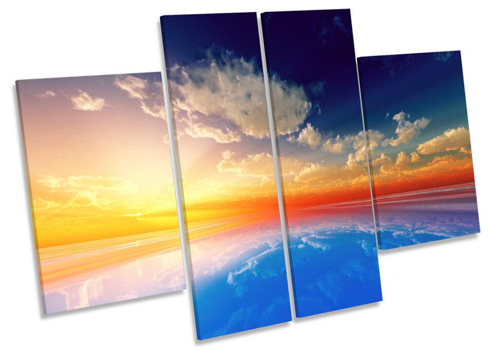 Paisaje Marino océano mar puesta LONA de sol LONA puesta pared arte Foto impresión de panel de múltiples 2af3e1