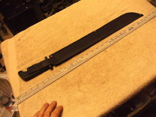Never Used Saw Back Top Edge 18 Inch  Machete with Soft Handle