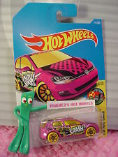 VOLKSWAGEN GOLF MK7 #111✰Magenta-pink VW; pr5 yellow✰✰2017 i Hot Wheels Case F