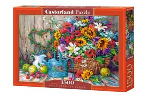 "Brand New Castorland Puzzle 1500 FRESH FROM THE GARDEN 27"" x 17.5"" C-151684"