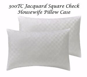 4 x Pillow Cases Pair 100/% Egyptian Cotton 300TC Housewife Bed Pillows Covers