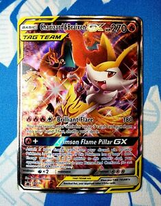 Ultra Rare Full Art Mint//NM Charizard /& Braixen GX Pokemon TCG Promo SM230