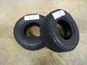 TWO-New-11X4-00-5-Carlisle-Turf-Saver-Lawn-Mower-Tires-5110101-w-free-stems