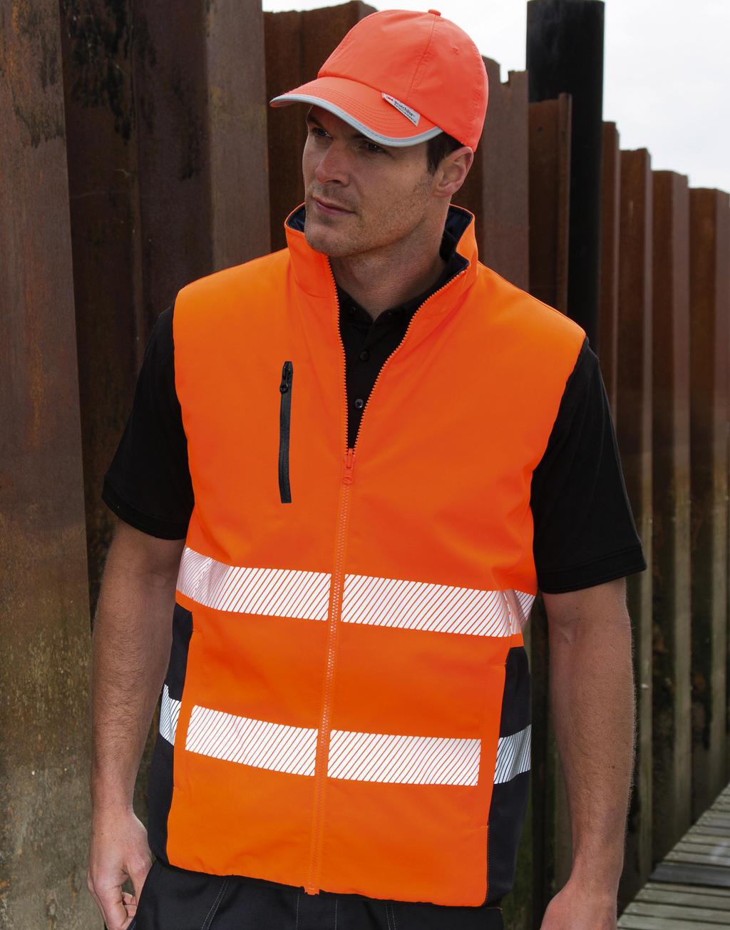 Warnschutz-Stepp-Wendeweste mit Reflexstreifen - Warnschutzweste - Steppweste