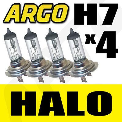 H7 HALOGEN 55W BULBS 12V MAIN BEAM HEADLIGHT HEADLAMP CLEAR LIGHT LAMP 499 X 4