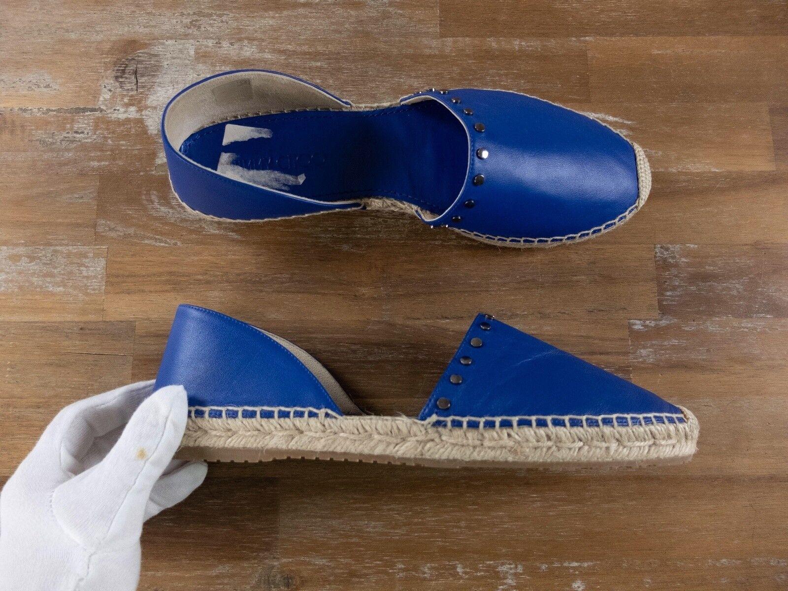 JIMMY CHOO Dreya blue lambskin espadrilles - Taglia 10.5 US / 7.5 UK / 40.5 EU