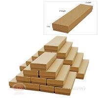 25 Kraft Cotton Filled Gift Boxes 8 X 2