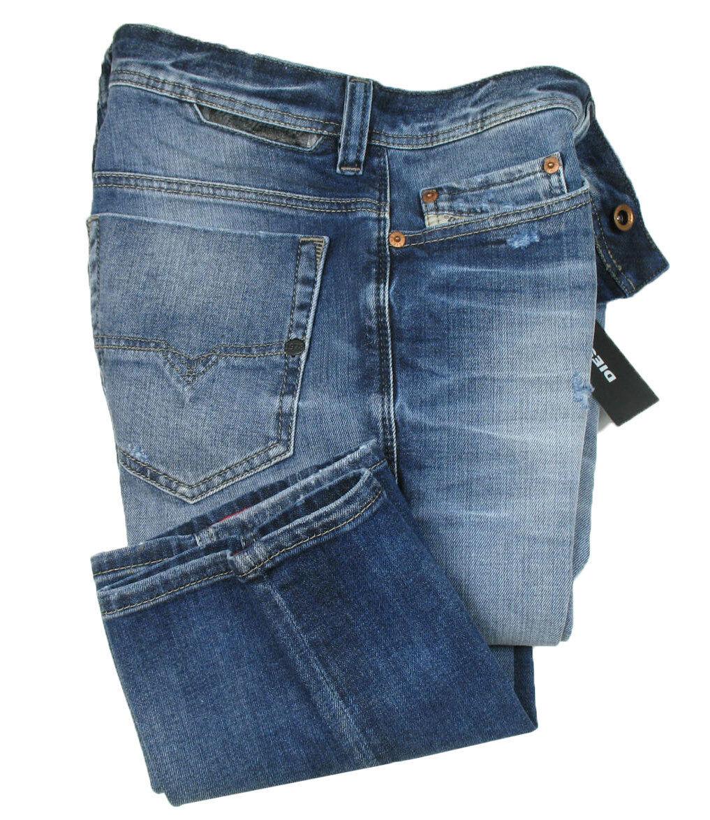 DIESEL Jeans   Safado ( Regular-Slim-Straight ) dark bluee heavy treated