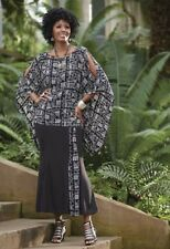 sz 22 Zia black/white African Print Wardrober by Ashro new