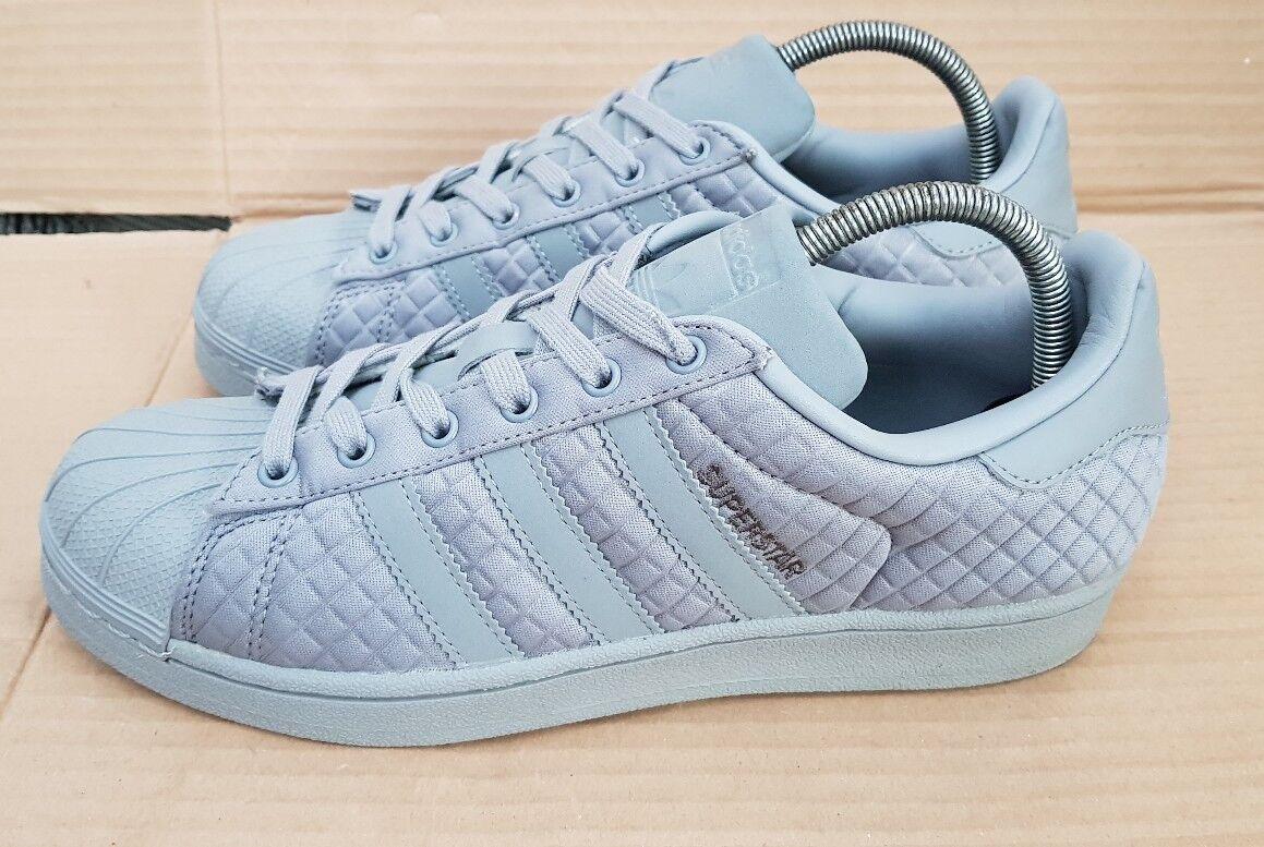 Adidas Adidas Adidas Superstar Shell Toe Baskets Gris Matelassé Pointure 7 excellent état 3fd126