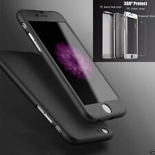 I3C Hybrid Tempered Glass +Acrylic Hard Case Cover For iPhone 6 BLACK NEW