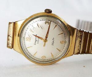 Armbanduhr-Herren-DUGENA-Festa-Slip-fix-vintage-Handaufzug-1950er-Jahre