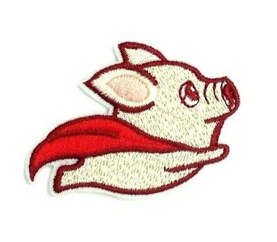 Cute Fly Pig Embroidered Sew On Iron On Patch Badge Clothes Craft Transfer 1532