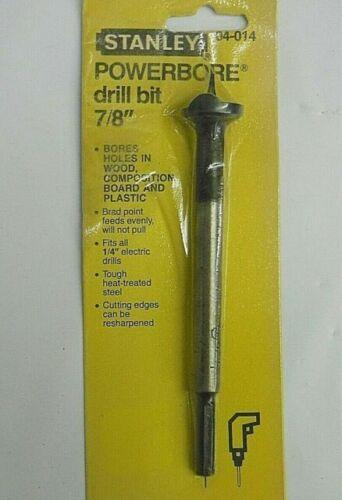 "Vtg Stanley Powerbore 3//4/"" Drill Bit Cabinetmaker Tool Brad Point 04-012 New USA"