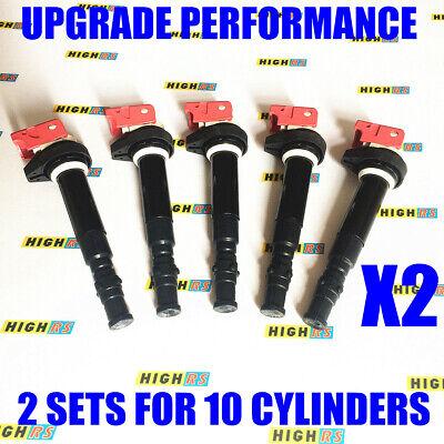 Set of 5 Performance Ignition Coils For 2006-2010 BMW M5 M6 5.0L V10 E60 E63 E64