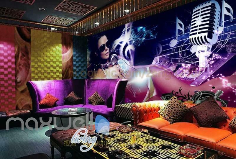 Decals Murals Wall Art Rave Party Mic Music Sexy Prints