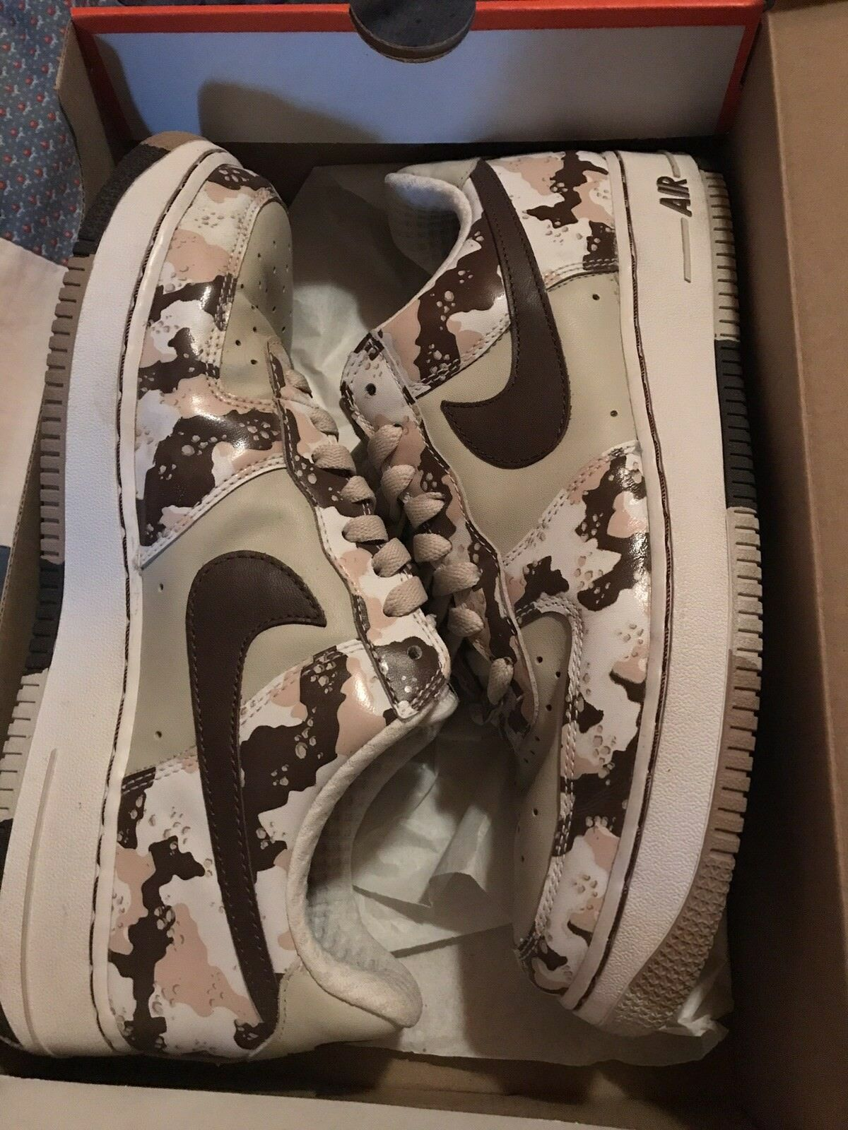 Nike air sand force one 1 desert camo sand air camouflage size 10.5 35355d