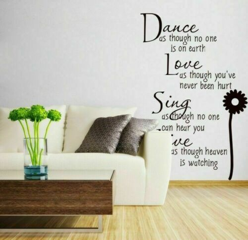 Removable Vinyl Art Home Quote Wall Decal Stickers Bedroom Mural DIY  Room Decor