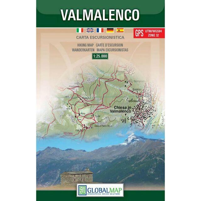 VALMALENCO CARTA ESCURSIONISTICA [SCALA 1:25.000] [CARTINA/MAPPA] GLOBAL MAP
