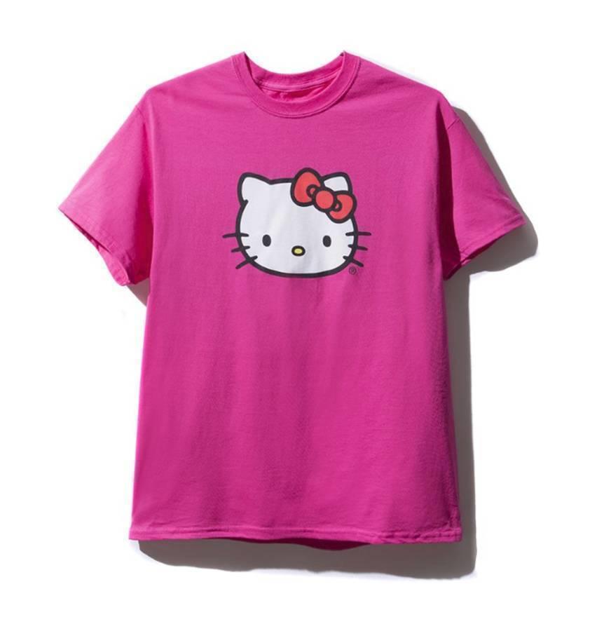 Hello Kitty x Anti Social Social Club TEE PINK  ASSC Sz M Medium NEW supreme