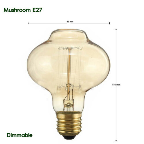Industrial Vintage Dimmable Edison Filament Light Bulb Squirrel Cage E27-60W