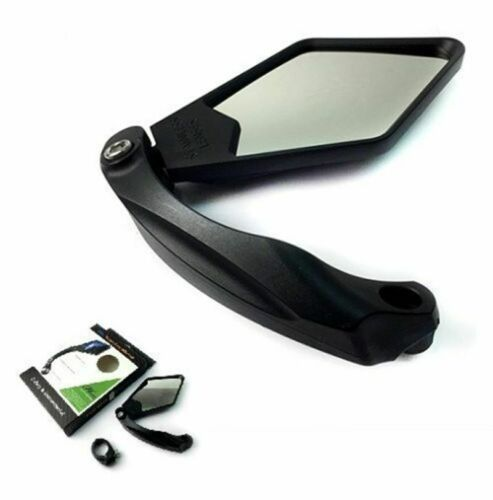 Details about  /MTB Bike Safety RearView Mirror Handlebar With Clamp Adjustable Stainless Steel