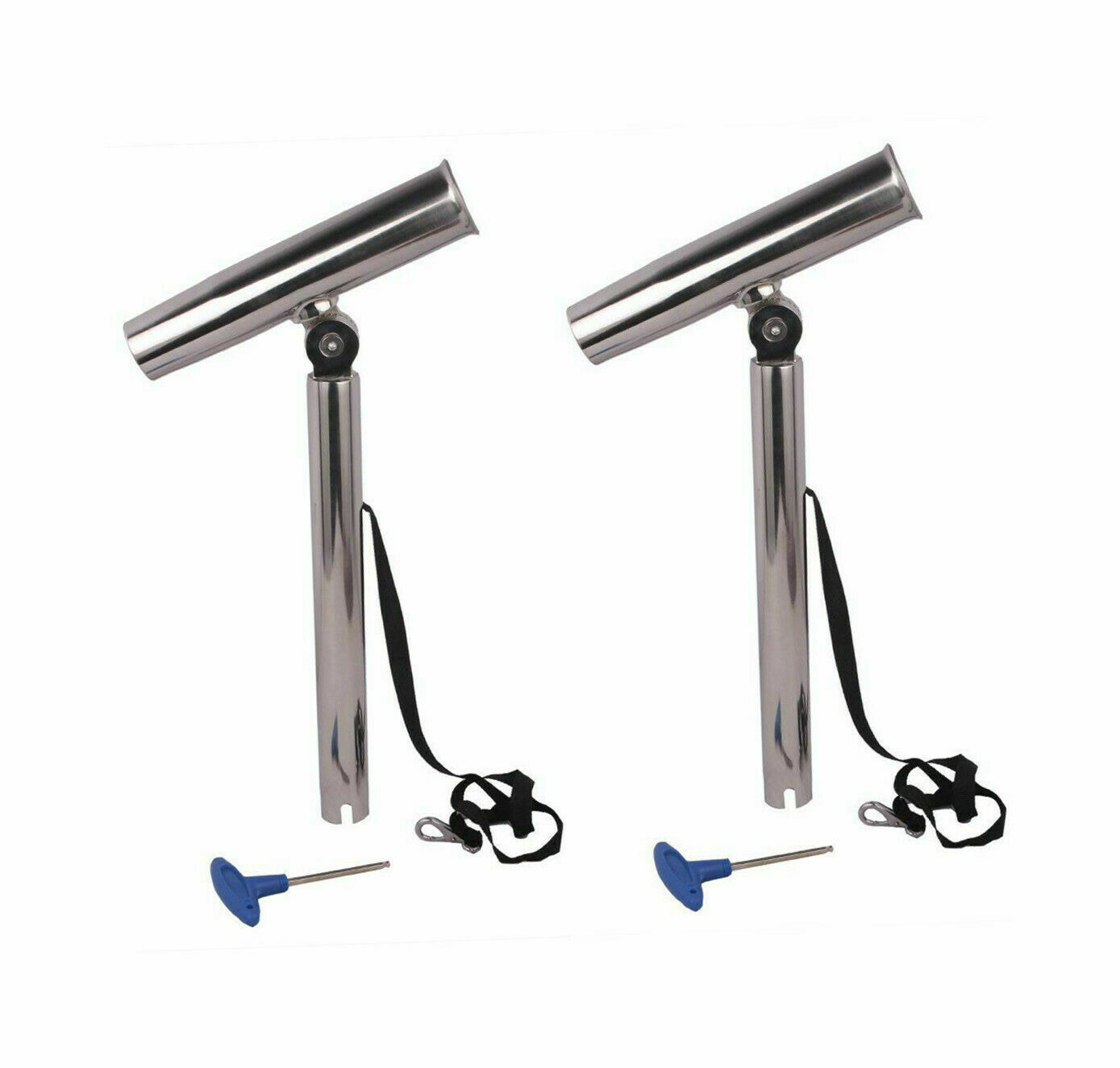 Pair 10 Stainless Steel Outrigger Boat Fishing Rod Holder Pole Rest Tube Stand
