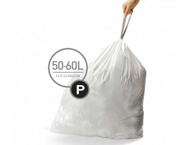 20 sacs Addis 50 L Bin Liner White