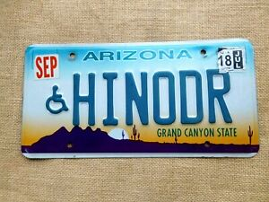 American-number-licence-plate-Arizona-vintage-car-genuine-embossed-USA