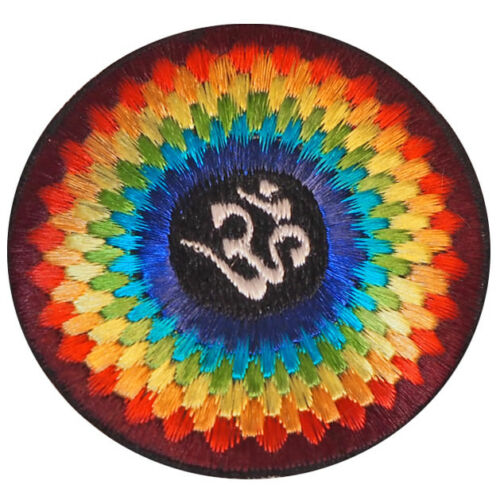 Aufnäher,Patches Textilaufnäher Nepal,Om,Buddha Eye,Yin Yang,Mandala,Pea 8 cm