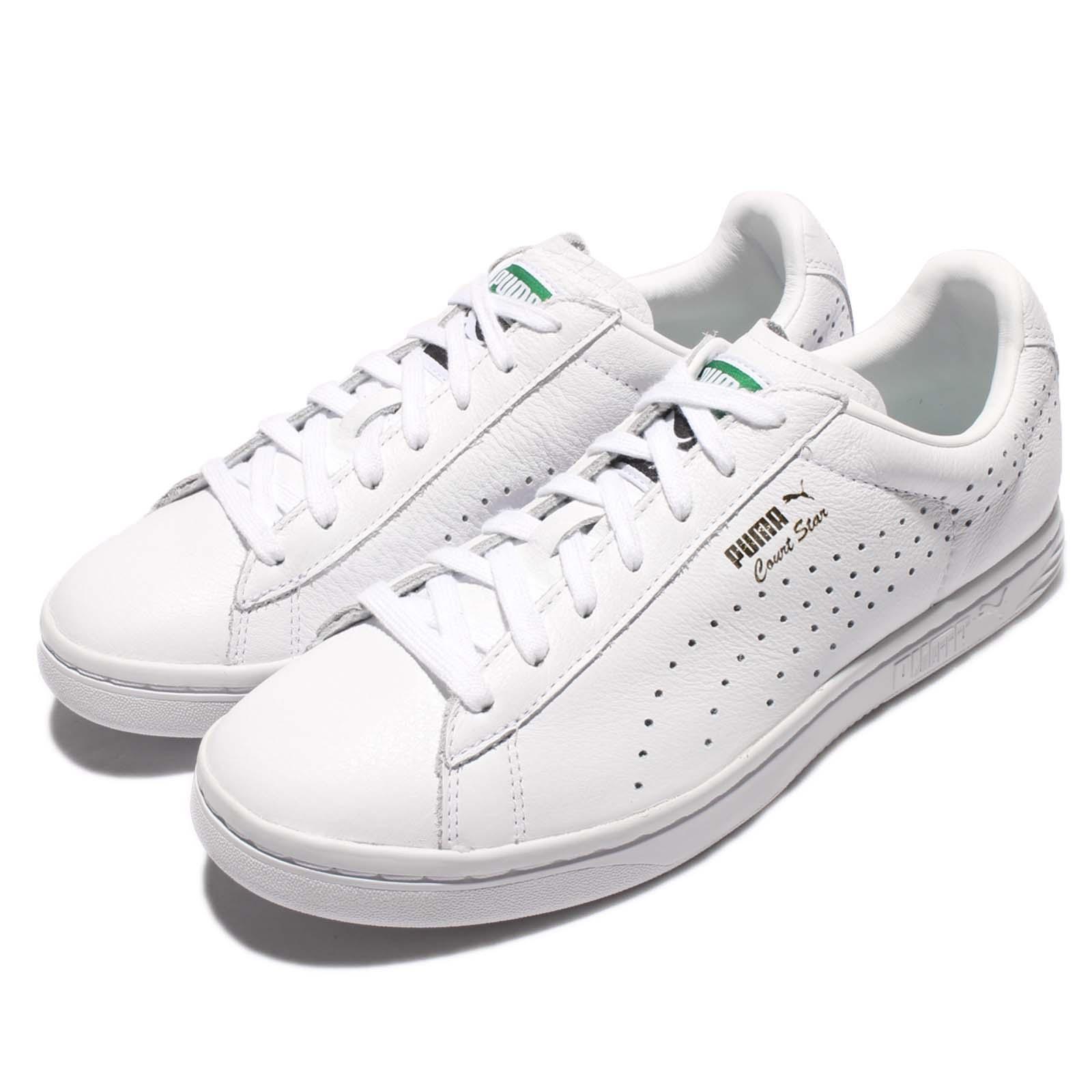 competitive price c1091 a356d Puma Court Star casi como Zapatos nuevo triple oro blanco Zapatos como  tenis informales de cuero