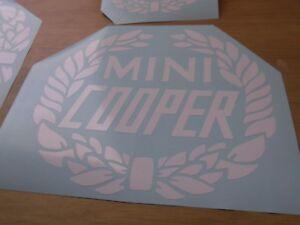 CLASSIC MINI COOPER  STICKERS.  X3  7 YEAR VINYL
