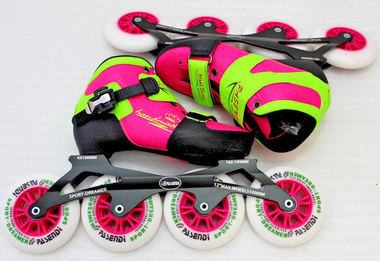 """Pasendi Sport Dreamer 165-195MM 12"""" Inline Skates Sohleninnenlänge 21cm"""