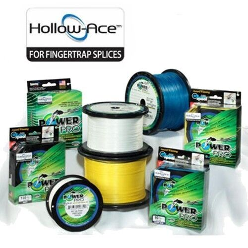 PowerPro Hollow Ace Braid Fishing Line 40lb Test 500yd Weiß Hollow Core
