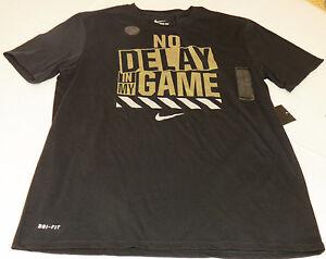 8bb49cce34b7 The Nike Tee Dri Fit L lg Athletic Cut t shirt Mens 806529 blk 010 ...