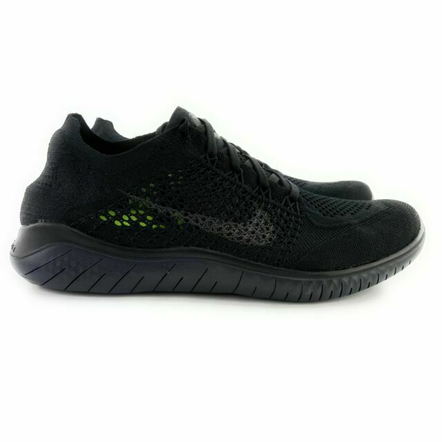 Size 6 - Nike Free Rn Flyknit 2018 Black Anthracite
