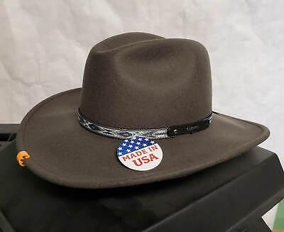 Stetson Bozeman déformable Laine Chapeau de Cow-Boy Medium made in USA 7 1//8-7 1//4