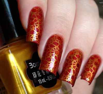 Born Pretty 15ml Gold Nail Art Manicure Stamping Plate Stamp Polish Varnish 1#