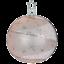 """#441 /""""Winter Sky Ivory Shiny/"""" 6cm Ball Glass Ornament w// box by Inge Glas"""