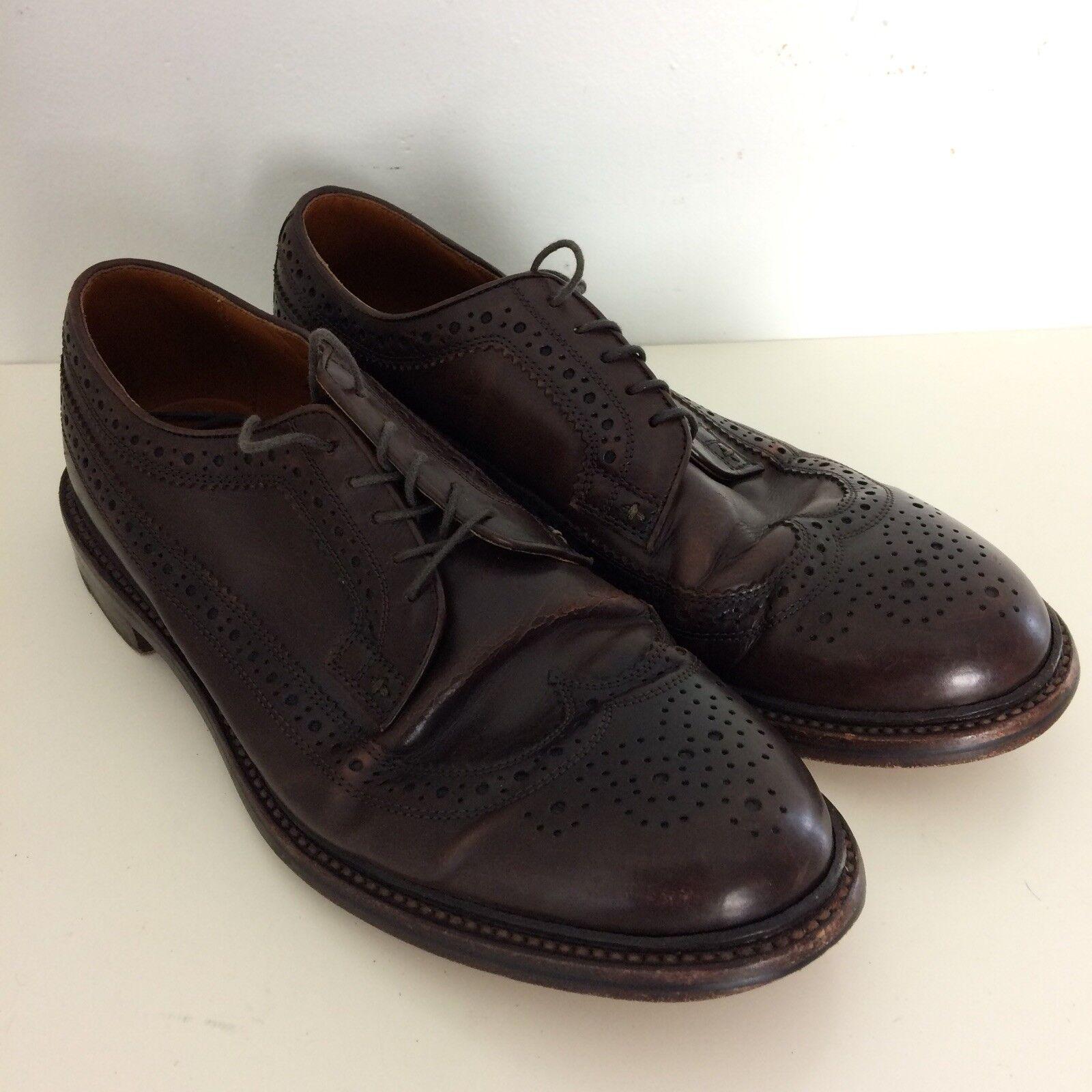 J. Crew Ludlow Hombre Cuero Marrón Cuero Italiano extremos del ala Vestido Zapato D
