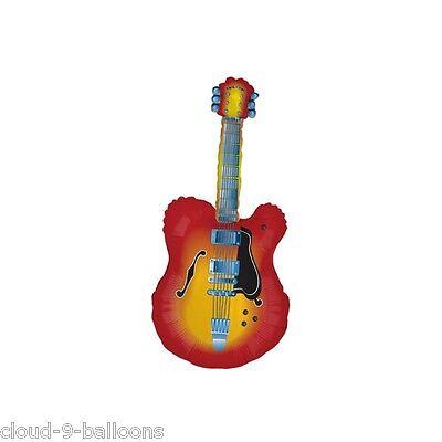 "26/"" Guitar XL Rock /'n Roll Music Foil Mylar Birthday Party Balloon Decorations"