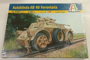ITALERI 1//35 6456 Italian Autoblinda AB 40 Ferroviaria Model Kit