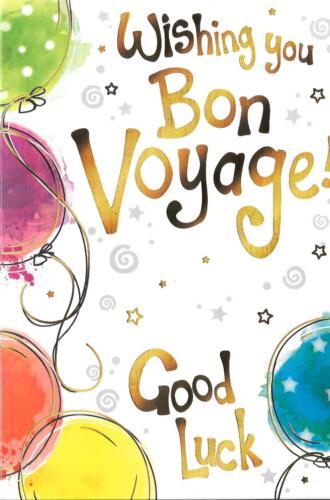 Carte de Vœux vous souhaiter Bon voyage! Bonne chance-Ballons