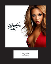 BEYONCE #1 Signed Photo Print 10x8 Mounted Photo Print - FREE DELIVERY