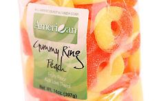 14oz Gourmet Style Bag of Chewy Peach Gummy Rings [7/8 lb.]