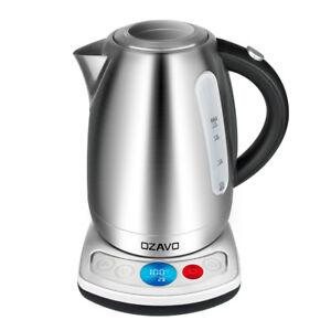 Edelstahl-Wasserkocher-Teekocher-mit-Temperaturwahl-40-100-Warmhaltefunktion