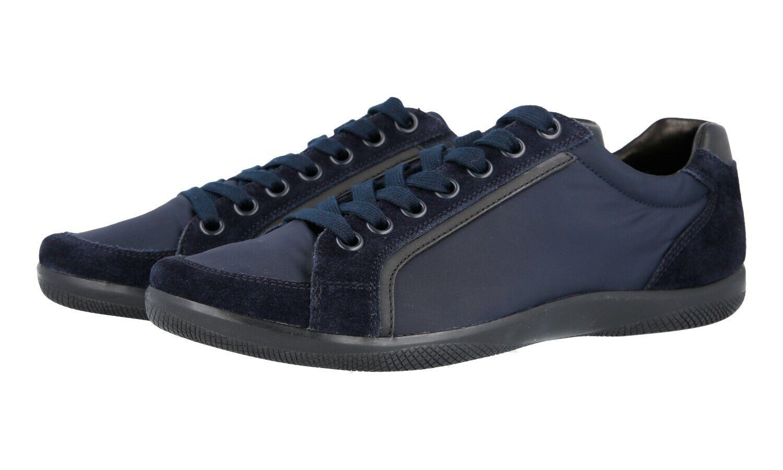 shoes PRADA LUXUEUX 4E2439 blue NOUVEAUX 6 40 40,5